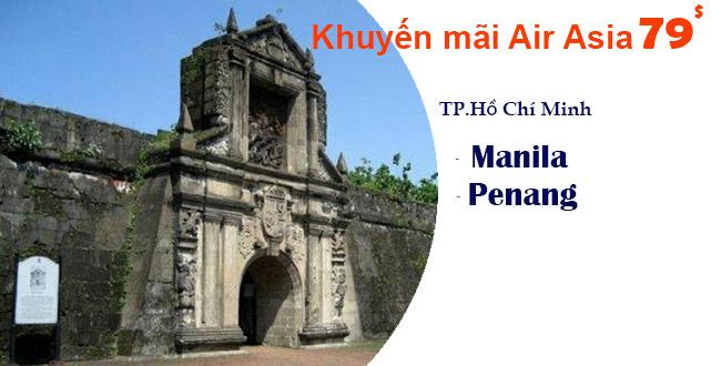 Air Asia bán vé máy bay giá rẻ du lịch Manila