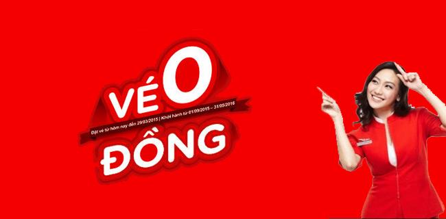 Air Asia bán vé máy bay giá rẻ O đồng