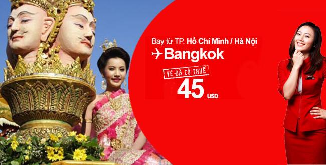 Vé máy bay Air Asia chỉ 45USD đi Bangkok