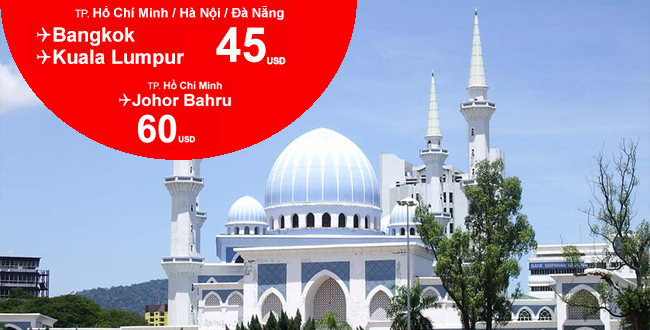 Cùng Air Asia du lịch và khám phá Malaysia