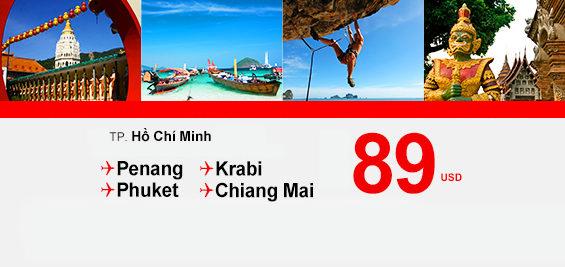 Du lịch Thái Lan cùng Air Asia chỉ từ 89USD