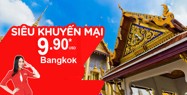 Bay đến Bangkok cùng Air Asia