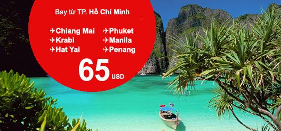 Vé máy bay giá rẻ Air Asia chỉ từ 65USD