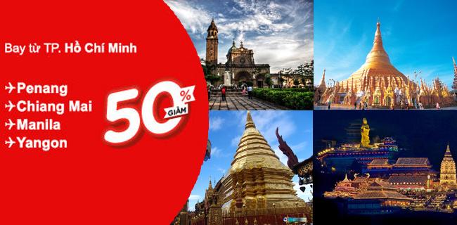 Vé máy bay giá rẻ Air Asia từ Hồ Chí Minh
